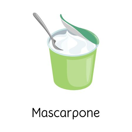 Isolated object of mascarpone and cheese icon. Web element of mascarpone and meal stock symbol for web.