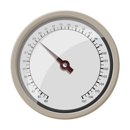 Barometer vector icon.Cartoon vector icon isolated on white background barometer .
