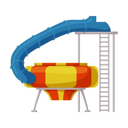 Water slide vector icon.Cartoon vector icon isolated on white background water slide . Stock Vector - 142331113