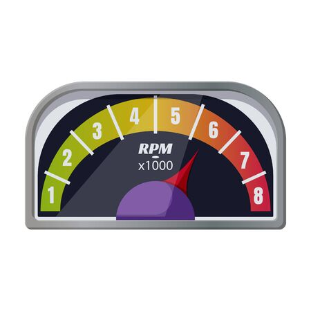 Speedometer vector icon.Cartoon vector icon isolated on white background speedometer .