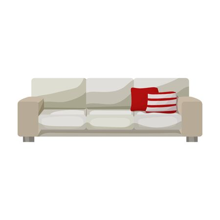 Sofa vector icon.Cartoon vector icon isolated on white background sofa .
