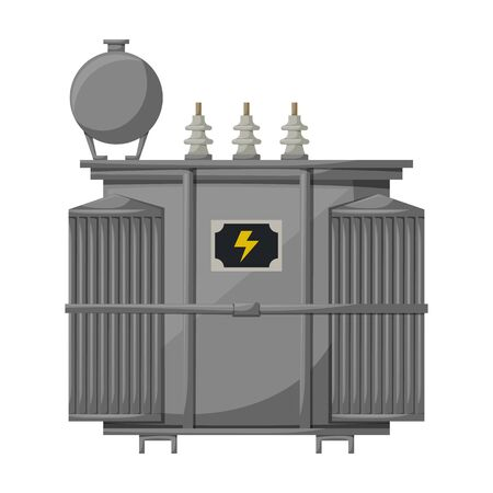 Transformer vector icon.Cartoon vector icon isolated on white background transformer .