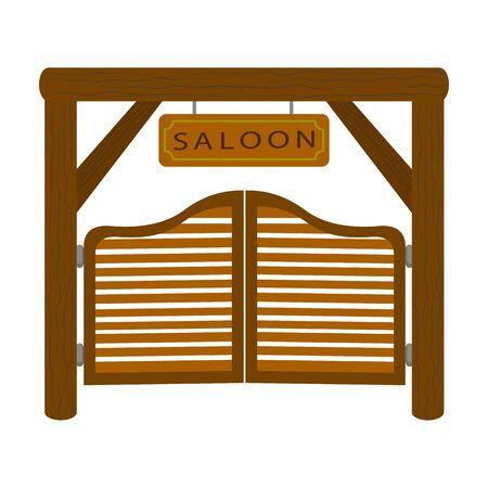 Western door vector icon.Cartoon vector icon isolated on white background western door .