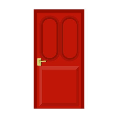 Door vector icon.Cartoon vector icon isolated on white background door .