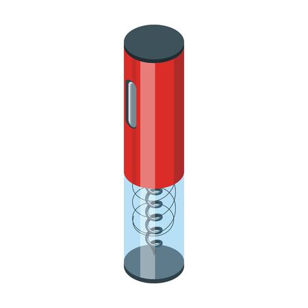 Corkscrew isometric vector icon.Cartoon vector icon isolated on white background corkscrew.
