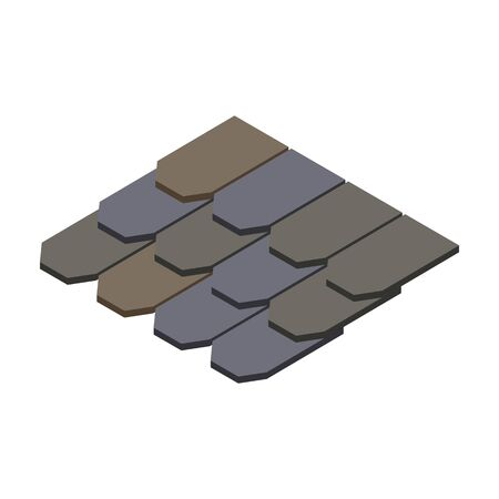 Material for roof isometric vector icon.Cartoon vector icon isolated on white background material for roof .