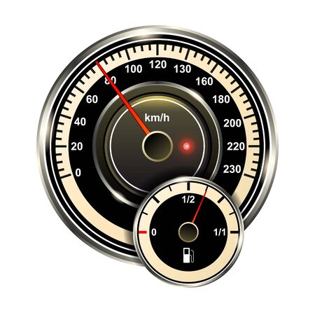 Speedometer vector icon.Realistic vector icon isolated on white background speed .