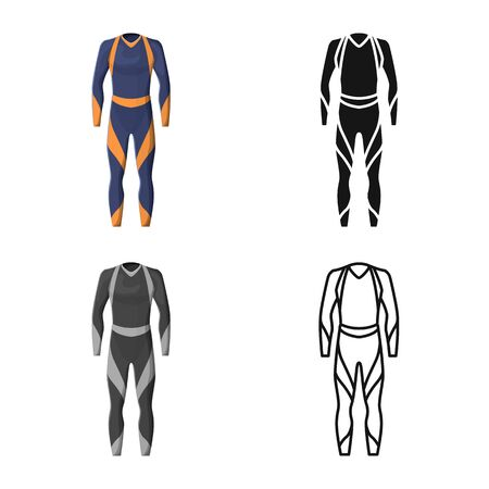 Isolated object of wetsuit and diver symbol. Web element of wetsuit and costume stock symbol for web.