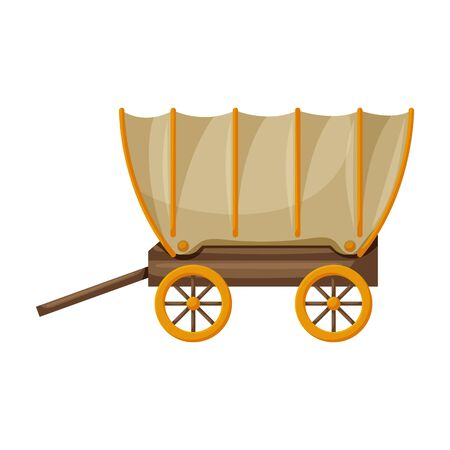 Wagon of west, wild vector icon.Cartoon vector icon isolated on white background wagon of west, wild. Vecteurs