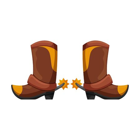 Cowboy boot vector icon.Cartoon vector icon isolated on white background cowboy boot. Фото со стока - 142844525