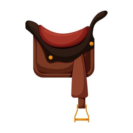 Cowboy saddle vector icon.Cartoon vector icon isolated on white background cowboy saddle.