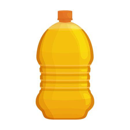 Bottle oil vector icon.Cartoon vector icon isolated on white background bottle oil . Ilustración de vector