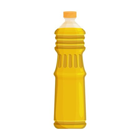 Bottle oil vector icon.Cartoon vector icon isolated on white background bottle oil . Ilustração