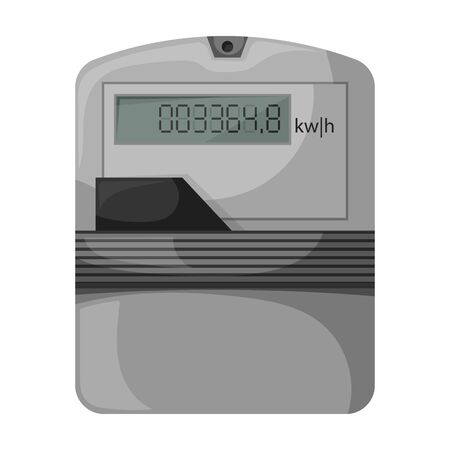 Electric meter vector icon.Cartoon vector icon isolated on white background electric meter .