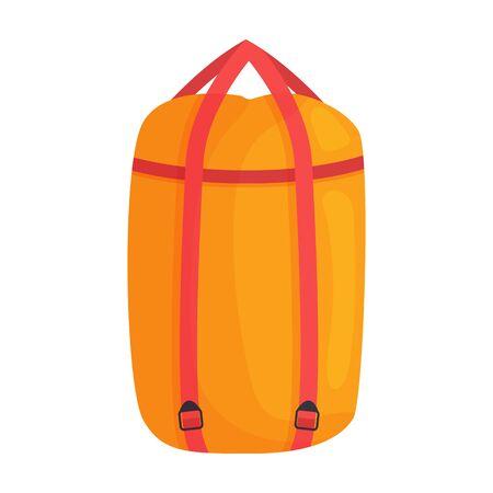Sleeping bag vector icon.Cartoon vector icon isolated on white background sleeping bag .