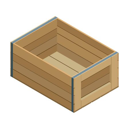 Farm box vector icon. Isometric vector icon isolated on white background farm box . Ilustracja
