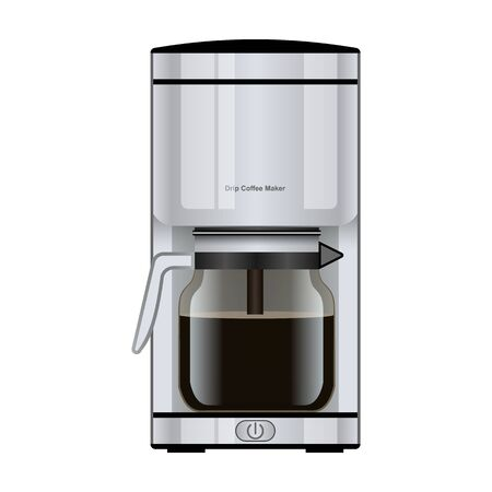 Coffee maker vector icon.Realistic vector icon isolated on white background coffee maker .