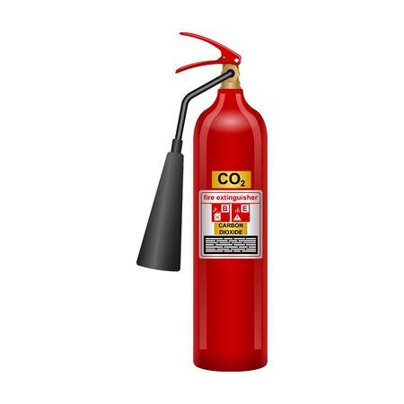 Extinguisher vector icon.Realistic vector icon isolated on white background extinguisher .