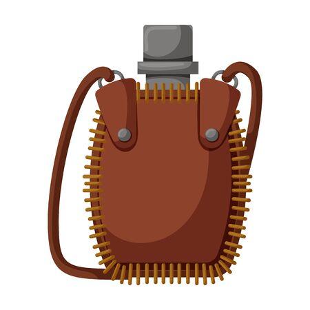 Flask bottle vector icon.Cartoon vector icon isolated on white background flask bottle. Çizim