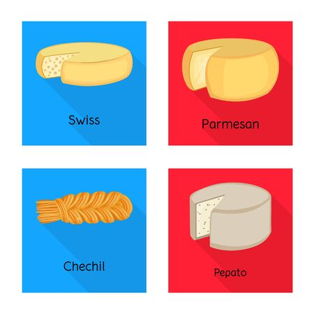 Isolated object of breakfast and piece logo. Collection of breakfast and product stock symbol for web.