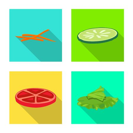Vector design of breakfast and delicious icon. Set of breakfast and tasty stock symbol for web.