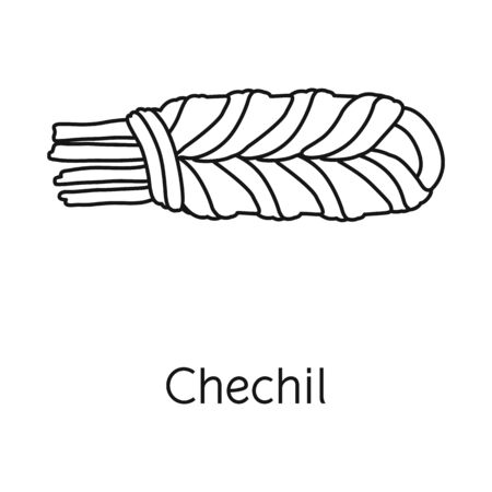 Vector illustration of chechil and cheese icon. Web element of chechil and meal vector icon for stock.