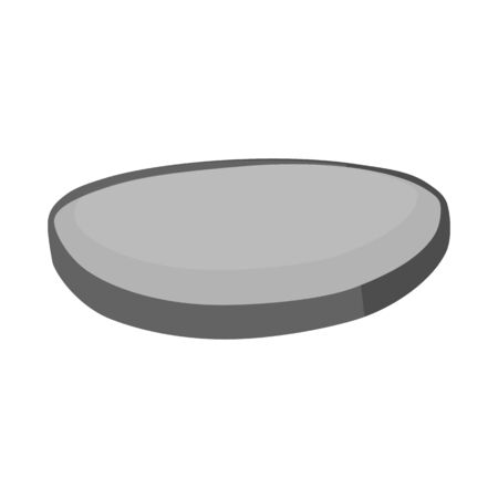 Isolated object of sausage and slice icon. Graphic of sausage and fresh vector icon for stock. Çizim