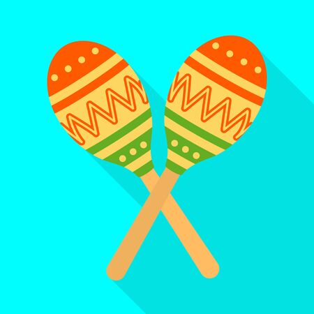 Isolated object of maraca and instrument symbol. Web element of maraca and maracas stock symbol for web.