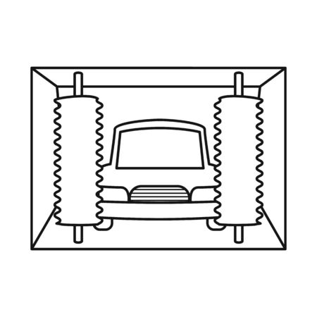 Vector illustration of car-wash and water icon. Set of car-wash and auto vector icon for stock.