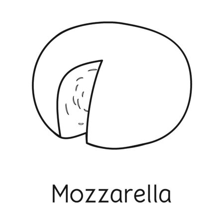 Isolated object of cheese and mozzarella icon. Web element of cheese and piece stock vector illustration.
