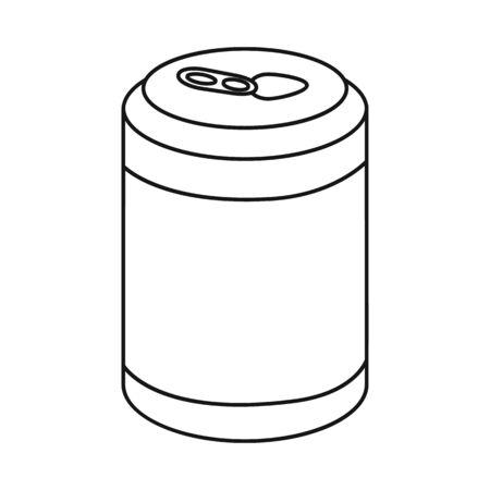 Vector illustration of bottle and soda icon. Collection of bottle and fizzy stock vector illustration. Çizim