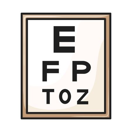 Vector illustration of text and optical symbol. Web element of text and eyesight vector icon for stock.