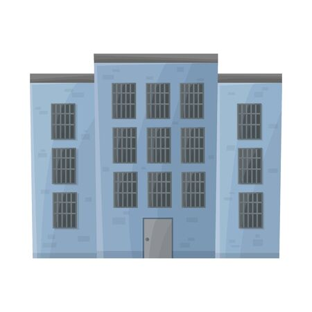 Isolated object of prison and building icon. Web element of prison and jailhouse vector icon for stock.
