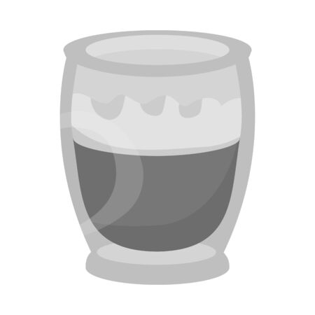 Isolated object of coffee and glass icon. Graphic of coffee and beverage stock symbol for web.