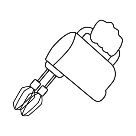 Vector design of mixer and whisk logo. Set of mixer and kitchen vector icon for stock.