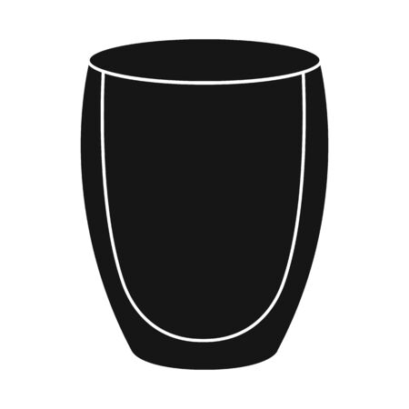 Vector design of juice and glass icon. Graphic of juice and sugar stock vector illustration.