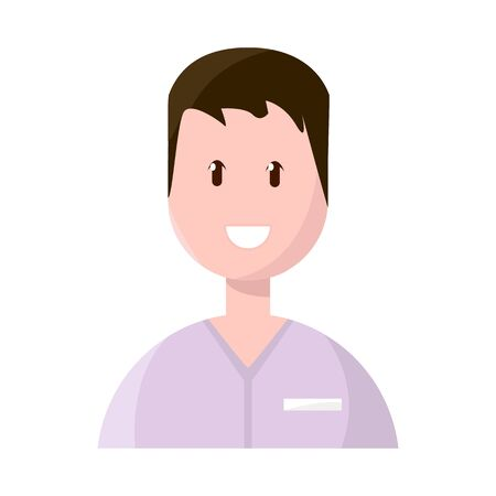 Vector illustration of doctor and career icon. Collection of doctor and dentist stock vector illustration. Çizim