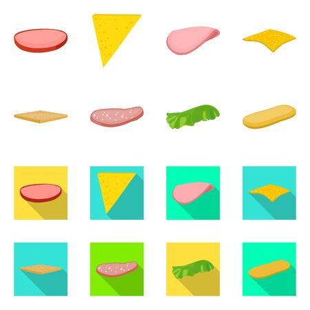Vector design of breakfast and delicious logo. Collection of breakfast and tasty stock vector illustration.