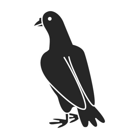 Pigeon vector icon.black vector isolated on white background pigeon.