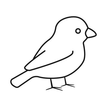 Isolated object of bullfinch and bird symbol. Collection of bullfinch and robin stock symbol for web. Vecteurs