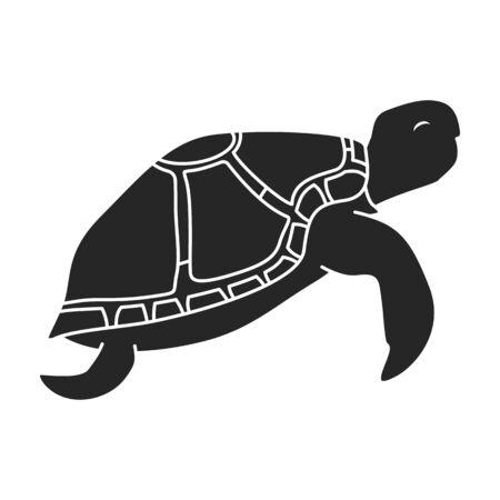 Sea turtle vector icon