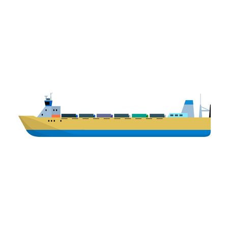Barge vector icon.