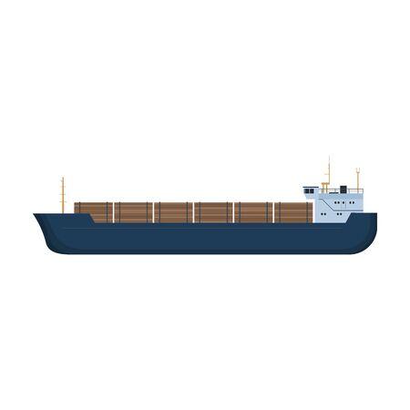 Barge vector icon. Vektorgrafik