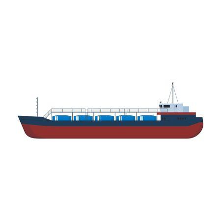 Barge vector icon. Vektoros illusztráció