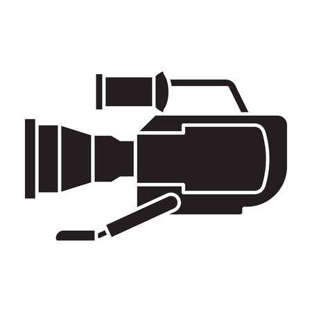 Video camera vector icon. 写真素材 - 143398301