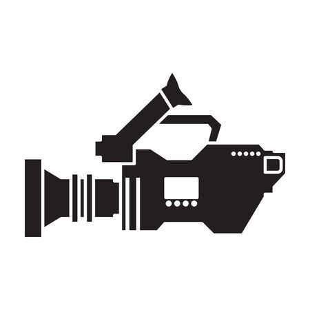 Video camera vector icon. 写真素材 - 143398320