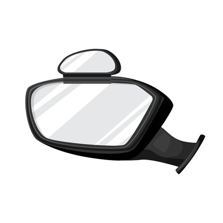 Side mirror vector icon.