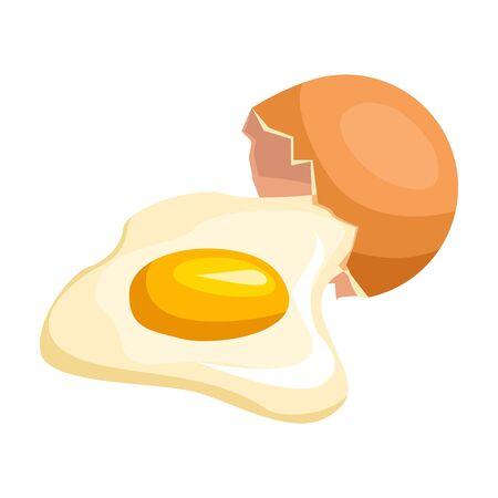 Broken egg vector icon.Cartoon vector isolated on white background broken egg.
