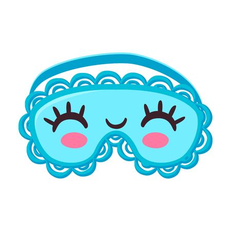 Sleep mask vector icon.Cartoon vector  isolated on white background sleep mask. 版權商用圖片 - 143400201