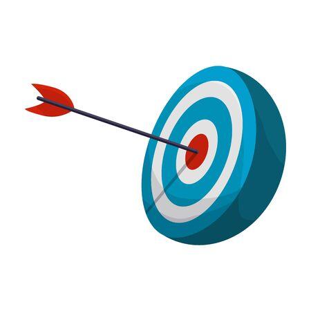 Target vector icon.Cartoon vector isolated on white background target. Vektoros illusztráció